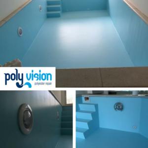 Zwembadrenovatie folie zwembad. Privé zwembad in Noord-Holland. Folie vervangen voor zwembadcoating