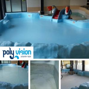 Zwembadrenovatie polyester peuterzwembad / osmosebehandeling. Zwembad Otterveurdt in Hoensbroek (Limburg). zwembadrenovatie vanwege osmose