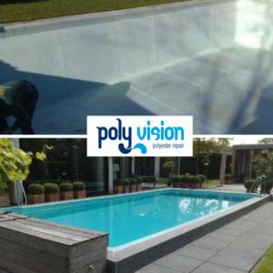 Zwembadrenovatie polyester zwembad / osmosebehandeling. Privé zwembad in Noord-Holland. zwembadrenovatie vanwege osmose