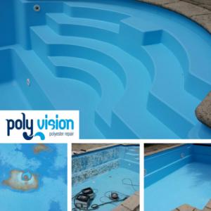 Zwembadrenovatie polyester zwembad (Starline). Privé zwembad in Utrecht. zwembadrenovatie vanwege loslatende zwembadcoating