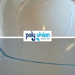 lekkage polyester waterglijbaan, polyester reparatie, renovatie, onderhoud, herstel