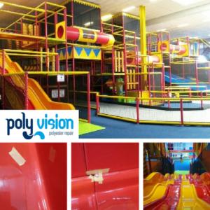 onderhoud en reparatie polyester glijbaan indoor speeltuin, polyester reparatie, renovatie, onderhoud, polyester herstel