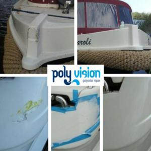 Is uw polyester boot beschadigd door een aanvaring? Deze twee boten (Ferretti en Icelander) hadden polyester en gelcoatschade door een aanvaring en zijn door ons vakkundig gerepareerd. Bent u verzekerd voor de schade? Wij maken graag een gespecificeerde prijsopgave voor u. polyester reparatie boot, gelcoat reparatie boot, polyester herstel schade boot.