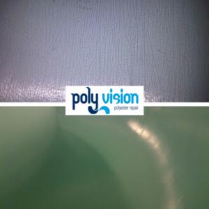 haarscheurtjes polyester, craquéle, polyester reparatie, renovatie, onderhoud, herstel