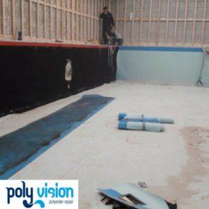Zwembadrenovatie - zwembadcoating betonnen zwembad (oud foliebad)