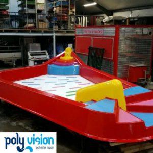 zwembadcoating polyester peuterbad, zwembadrenovatie, polyester reparatie