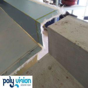polyester reparatie boeideel, polyester herstel
