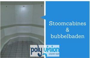 polyester reparatie stoomcabine en bubbelbad