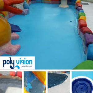 Zwembad reparatie/zwembad renovatie/zwembad coating polyester zwembad Drenthe