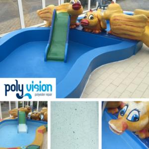 Zwembad reparatie/zwembad renovatie/zwembad coating polyester zwembad Gelderland