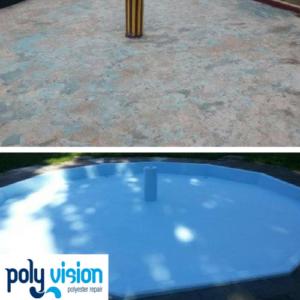 Zwembad reparatie, zwembad renovatie en coating voor polyester zwembaden