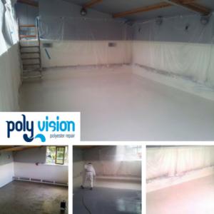 Zwembad reparatie/zwembad renovatie/zwembad coating kunststof zwembad Zuid-Holland