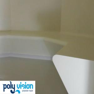 renovatie polyester stoomcabine, coaten polyester stoomcabine, polyester reparatie, renovatie, onderhoud, polyester herstel