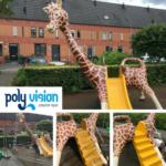 polyester renovatie speeltoestel, polyester reparatie, renovatie, onderhoud, polyester herstel