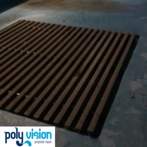 Onderhoud en coaten polyester waterglijbanen Moonlight en Starfright- Tikibad Duinrell. polyester reparatie, renovatie, onderhoud, polyester herstel, coating