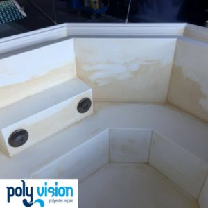 polyester bubbelbad reinigen en polijsten, polyester reparatie