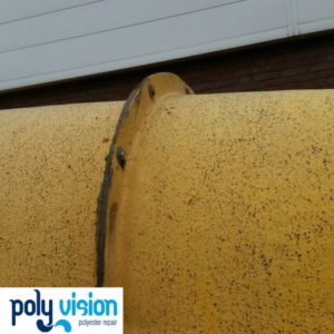 coaten buitenkant polyester waterglijbaan, polyester reparatie, polyester renovatie, polyester onderhoud, polyester coating, polyester herstel, polyester waterglijbaan