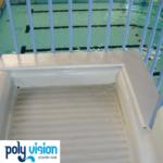 polyester aanpassen waterglijbaan