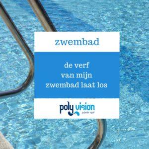 zwembadrenovatie, zwembadcoating, de verf van mijn polyester zwembad laat los