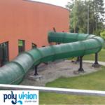 reparatie, onderhoud en coating polyester waterglijbaan