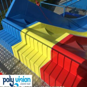 Polyester reparatie en coating waterglijbaan - Knopenbad