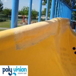 Polyester reparatie en onderhoud waterglijbaan - DippieDoe