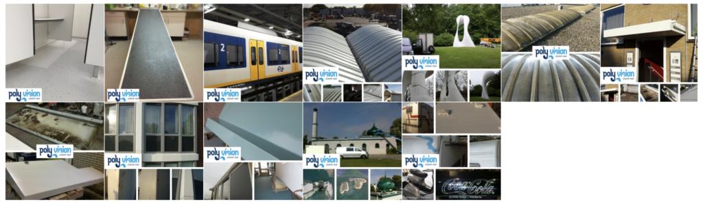 polyester reparatie, renovatie, onderhoud diverse objecten van polyester