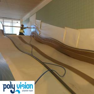 coating waterglijbaan - scheldebad temse belgië