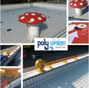 polyester reparatie attractie, polyester reparatie waterattractie
