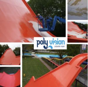 polyester reparatie glijbaan, polyester reparatie waterglijbaan