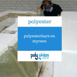 polyesterhars en styreen, polyester reparatie