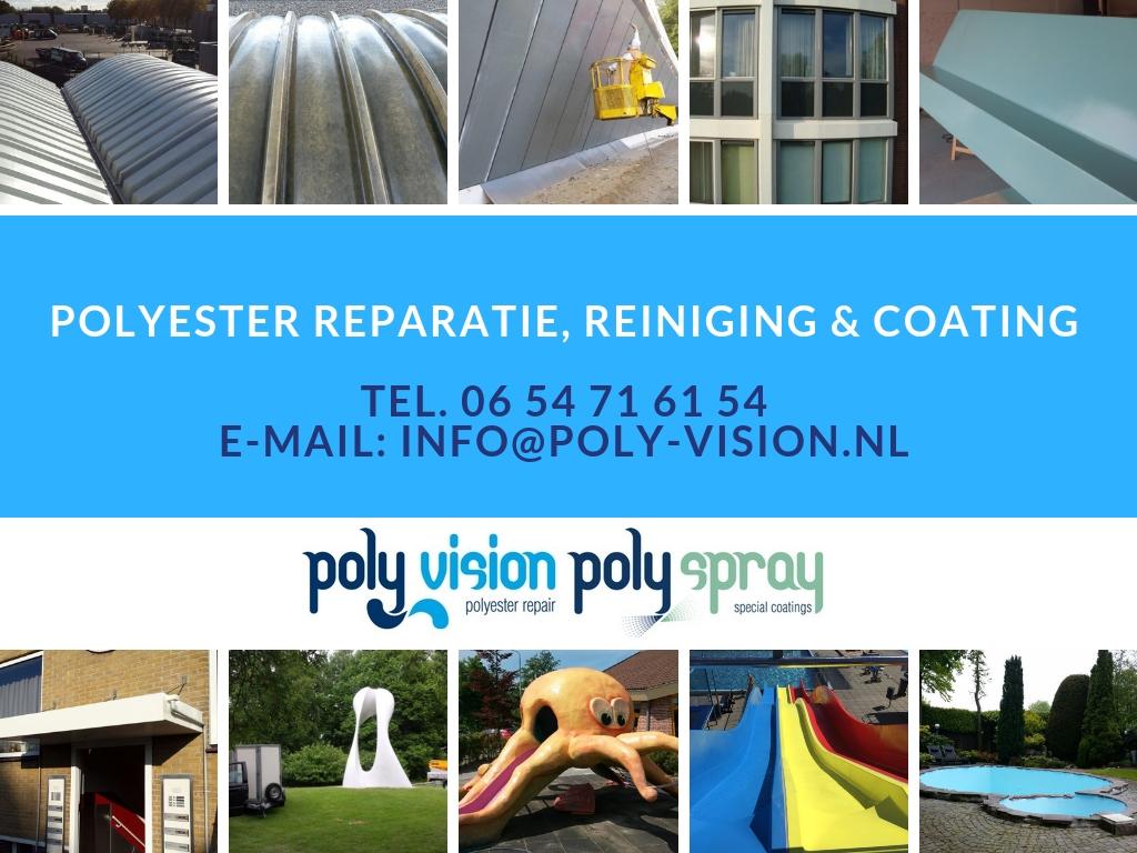 Polyester reparatie  & zwembadrenovatie/coating