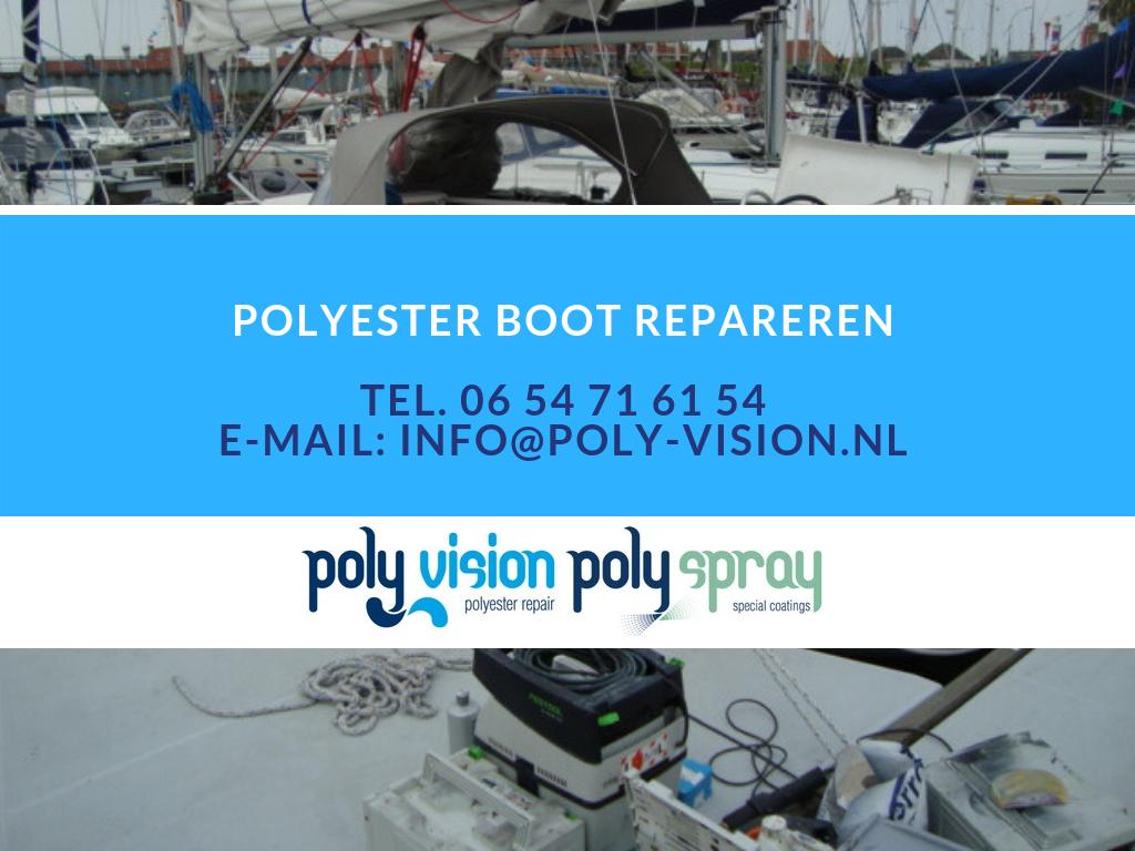polyester boot repareren, polyester reparatie boot, gelcoat reparatie boot