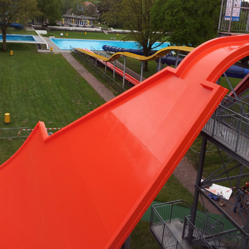 polyester onderhoud waterglijbaan