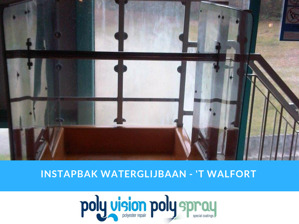 polyester reparatie waterglijbaan, polyester renovatie waterglijbaan, polyester onderhoud waterglijbaan, polyester herstel waterglijbaan