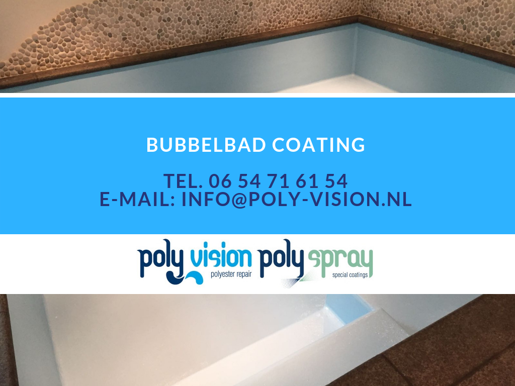 bubbelbad renovatie, bubbelbad coating, waterdichte coating