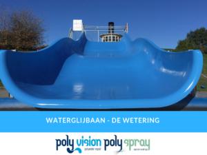 onderhoud, reparatie en coaten polyester waterglijbaan