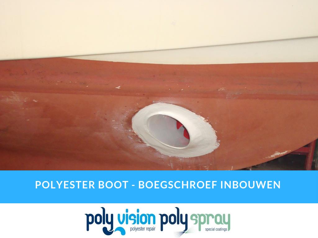 boegschroef inbouwen in polyester boot