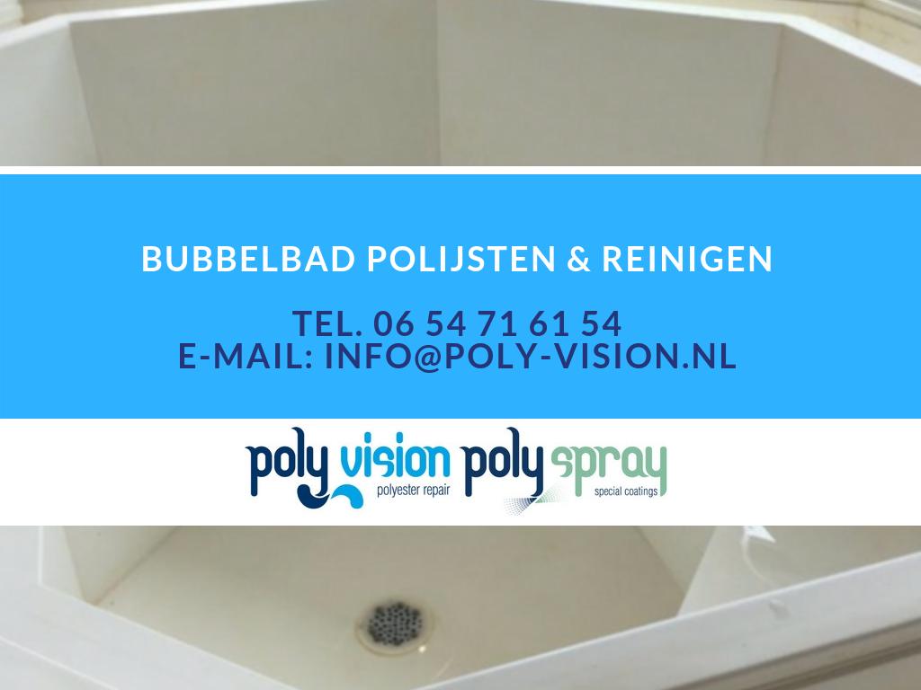 polyester bubbelbad reinigen en polijsten