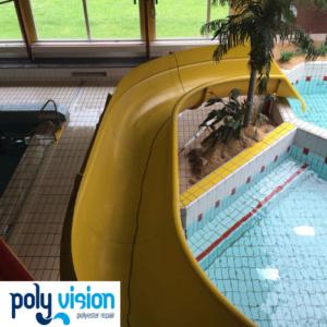 polyester reparatie en onderhoud waterglijbaan De Wildert