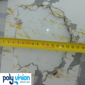 polyester reparatie boot, polyester reparatie radarbol schip
