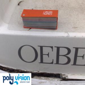 Polyester reparatie en gelcoatreparatie boot Jeanneau
