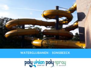 onderhoud, reparatie, coating, renovatie polyester waterglijbaan