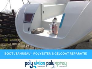polyester reparatie en gelcoat reparatie boot