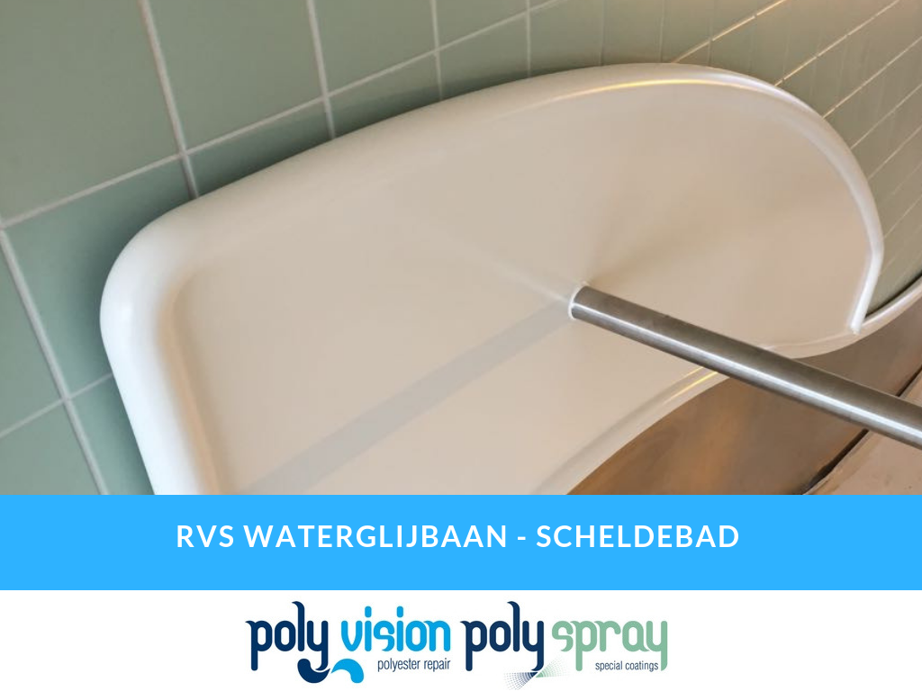 waterglijbaan coating, rvs coating