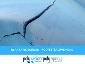 reparatie scheur polyester zwembad