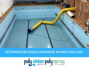 renovatie/coating betonnen/betegeld zwembad