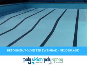 renovatie/coating beton met polyester zwembad