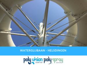 onderhoudsinspectie polyester waterglijbaan