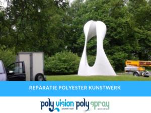 polyester reparatie kunstwerk